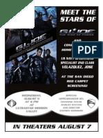 GI JOE Event Flyer