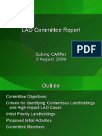 Sulong LAD Comm Report (3 Aug 2009)