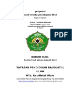 Proposal Studi Wisata Sejarah MTs. RU 2013