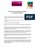 20131030 Communique Des Organisations Syndicales de Salaries de Bretagne
