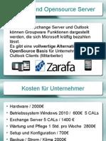 Microsoft Outlook und Open Source Server