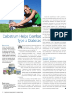 Diabetes control through ImmuneTree Colostrum supplement