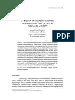 Artigo Psicologia Escolar Goiânia 2012