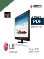 LG 37LH55 LCD TV Presentation Training Manual