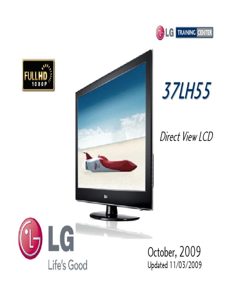 LG 37LH55 LCD TV Presentation Training Manual | Electrostatic Discharge |  Power Supply