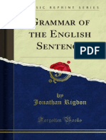 Grammar of the English Sentence