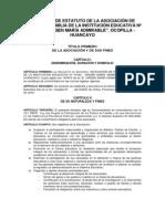 PROYECTO DE ESTATUTO DE LA ASOCIACIÓN DE PADRES DE FAMILIA DE LA INSTITUCIÓN EDUCATIVA Nº 31542.docx