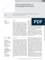 A Clinical Study of the Cognitive Eff ects of