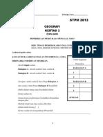Soalan Geografi Percubaan Stpm Penggal 3 2013