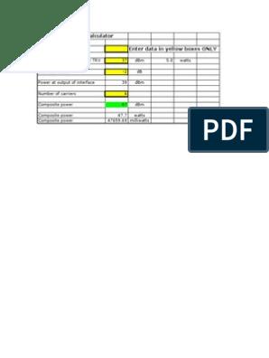 Composite power calculator xls