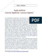 La Antropologia Politica Nuevos Objetivos Nuevos Objetos