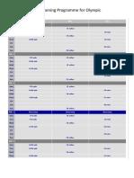 intermediate training for olympic triathlon