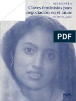 Claves Feministas Para La Negociacion en El Amor Marcela Lagarde