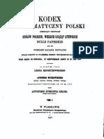 Rzyszczewsjuego - Codex Diplomatyczny Polski 1 (1145 - 1506)
