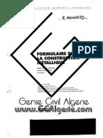 Formulaire de construction métallique(GCAlgerie.com)