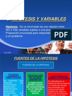7. Hipotesis y Variables