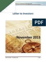 Lighthouse - Letter to investors - 2013-11.pdf