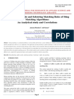 Suffix to Prefix Rule and Substring Matching Rules of Sting Matching Algorithms: An Analytical study and Correlations