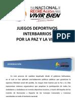 Presentacion Juegos Inter Barrios Por La Paz y La Vida Ultimo Sin Reuniones-1prr