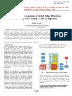 Performance Analysis of Sobel Edge Detection Filter on GPU using CUDA & OpenGL