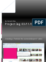 Project log 03/11/13