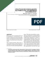 Las Politicas de Conciliacion Trabajo Familia en Las Empresas Colombianas