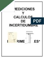 Mediciones y Calculos de Incertidumbres Experimentales