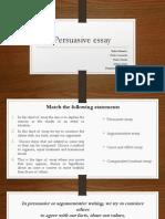 Persuasive Essay Presentacion (Complete)