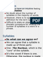 Phonology Syllables