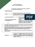 Guía texto expositivo 6º
