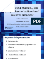"(Silencio y ""Anticortesía"")"