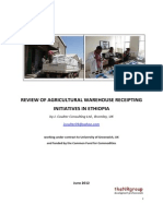 Review of Agricultural Warehouse Receipting Initiatives in Ethiopia