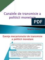 Canalele de transmisie a politicii monetare
