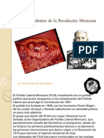 Antecedentes de la Revolución Mexicana
