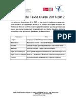 Lista de Libros Curso 2011-2012
