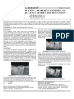 c Shaped Root Canal System in Mandibularsecond Molar a Case Report and Discussion