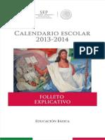 Folleto Explicativo Calendario Escolar 2013-2014
