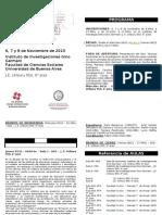 Programa 7mas Jornadas IIGG