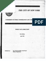 1993 NYC Public Data Directory