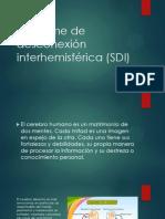 Síndrome de desconexión interhemisférica (SDI)