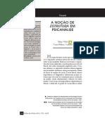 ALTOE, S. & MARTINHO, M. H. A noção de estrutura em Psicanálise [2012]