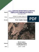 Ingegneria Civile - Strutture Idrauliche - Relazione Dimensionamento Impianto Idroelettrico - UniRomaTre