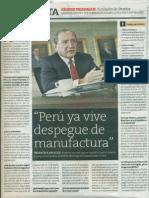Peru Ya Vive Despegue de Manufactura