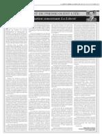 Lettre de mise à jour de la situation de La Liberté par le président du conseil d'administration de Presse Ouest Ltée., Marc Marion.