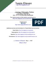Castoriadis, Anthropology, Philosophy, Politics