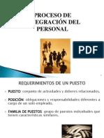 3. Proceso de integración del personal