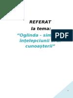 Oglinda - Simbolul Intelepciunii si al Cunoasterii.doc