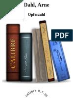 Dahl, Arne - Opferzahl
