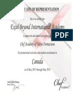certificate of rappresentative ebia 1