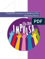 Programa Consejera Académica Valentina Rivera - Impulsa 2014